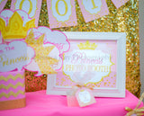 PRINCESS Birthday - Sparkle SIGN - First Birthday