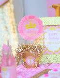PRINCESS Birthday - Sparkle NAPKIN RINGS - She Leaves SPARKLES