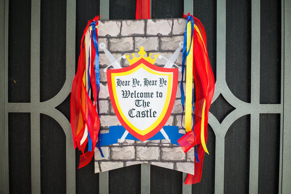 KNIGHT Party - Castle Party - Medieval Party - Knight - King Party - Royal Birthday Party - Dragon Party - FLAG BANNERS