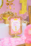 PRINCESS Birthday - Princess BACKDROP - Sparkles- Princess Party