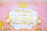 PRINCESS Birthday - Princess BACKDROP - She Leaves Sparkle