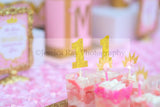 PRINCESS Birthday- Princess BACKDROP- She Leaves Sparkle Party- Princess Party- Pink