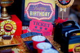 HOLLYWOOD BIRTHDAY - Movie Party - POPCORN BANNER- Cinema Party- Theater Party-