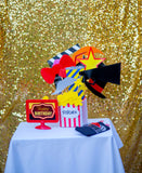 Movie Theater Party - Hollywood - Cinema BACKDROP- Oscar Party- Cinema Party- Red Carpet Party