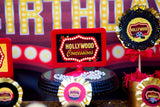 RED CARPET Party- Hollywood PARTY- Movie Party- POPCORN BANNER- Cinema Party- Theater Party