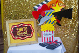 Hollywood PARTY - Movie PARTY - DRINKS BANNER- Theater Party- Cinema Party- Red Carpet