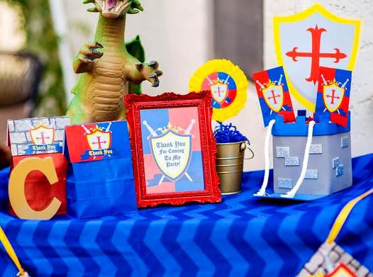 KNIGHT Party - Castle Party - Medieval Party - Knight - King Party - Royal Birthday Party - Dragon Party - FAVOR BAG Toppers