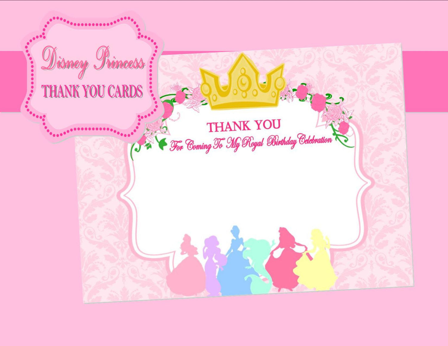princesses party girls birthday party pink printables complete