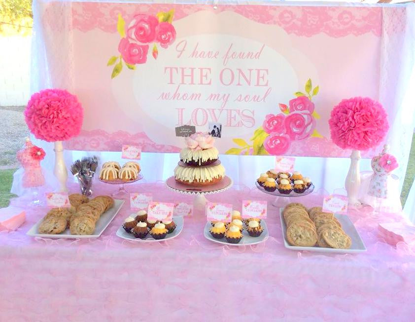 PINK BRIDAL SHOWER - BRIDAL SHOWER BACKDROP