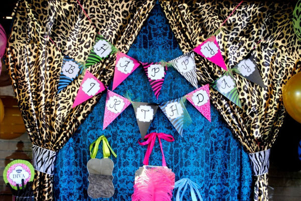 GLAMOUR GIRL - Animal Print - Fashion Party - Cheetah - Zebra - Diva - Rock Star