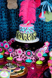 GLAMOUR GIRL - Animal Print - Fashion Party - 80's Party - Zebra - Diva - Rock Star - Neon - NAPKIN WRAPPERS