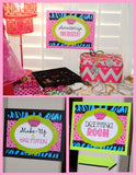 GLAMOUR GIRL - Animal Print - Cheetah Party- Zebra - Diva - Rock Star - Neon CANDY JAR LABELS