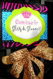 GLAMOUR GIRL - Animal Print - Fashion Party - Cheetah - Zebra - Diva - Rock Star - Neon - 80's Party Signs
