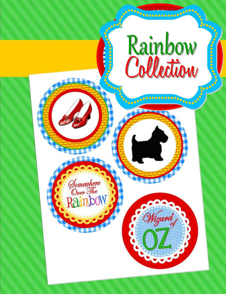 RAINBOW PARTY - Red Slippers - Dorothy PARTY CIRCLES