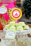 BELLE PARTY- IDEAS- PRINCESS BIRTHDAY Party- Princess FOOD LABEL- Crown Party - Yellow Princess Party