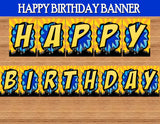 SUPERHERO Party- COMIC Hero Party- Superhero Birthday- Bat Party- BANNER- Decorations