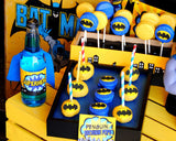 Superhero Party- COMIC BOOK Party- Superhero Birthday- Superhero FOOD LABELS - Bat Party