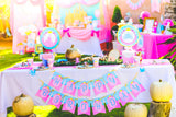 PRINCESS Party - BANNER- Girl Birthday Party- Printable