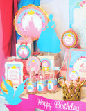 PINK PRINCESS Party -PHOTO PROPS- Girls Birthday- Princess Party Ideas- Printables