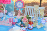 PRINCESS- LABEL- BLUE PRINCESS- BRIDAL SHOWER- BIRTHDAY