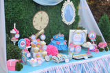 PRINCESS PARTY - CASTLE- Blue - BRIDAL Shower- Birthday