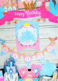 PRINCESS Party - Princess BANNER - Castle - Birthday