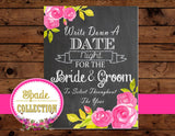 BRIDAL Shower SIGN - LADIES POWDER ROOM - Chalkboard Wedding Sign
