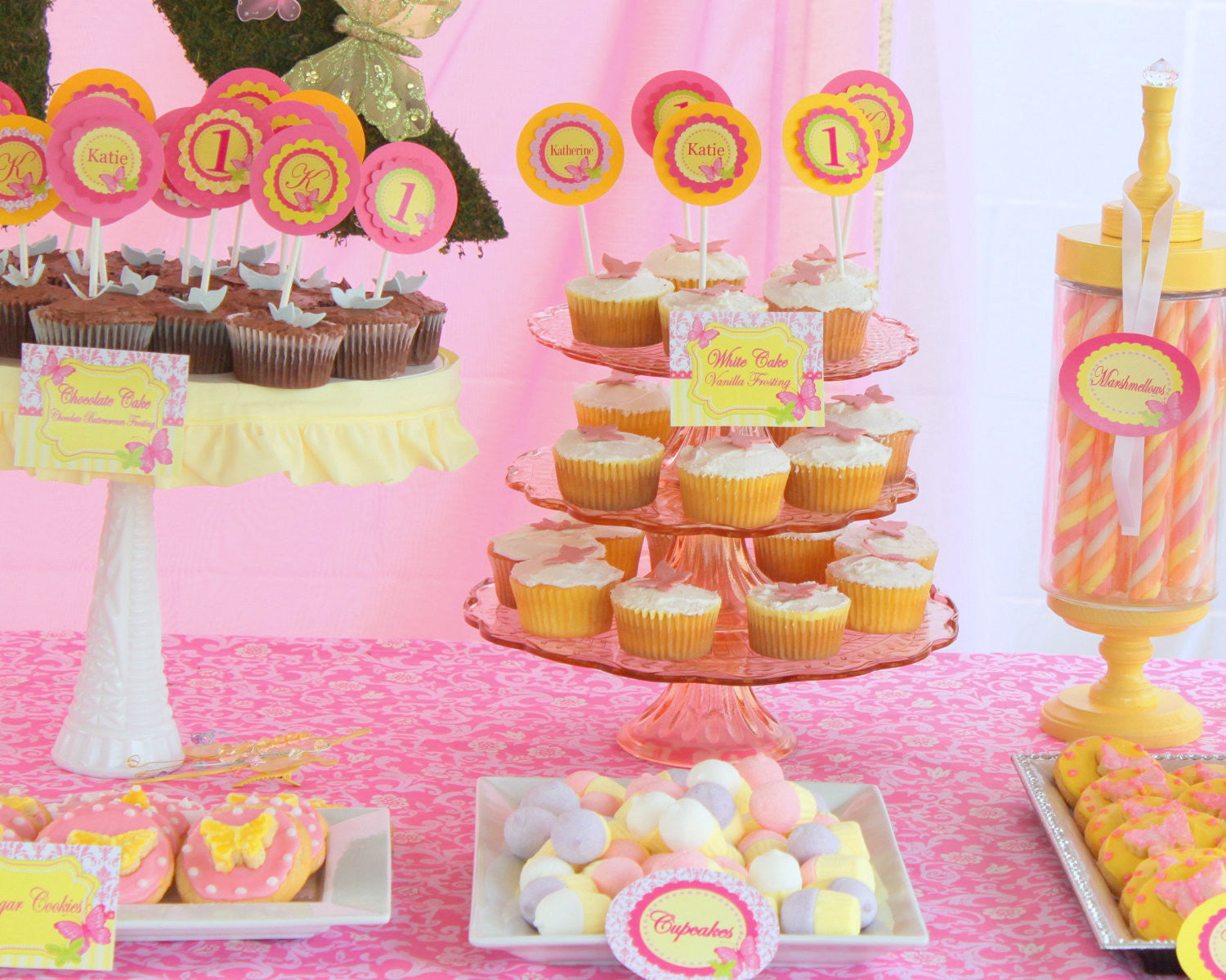 BUTTERFLY Party Butterfly Birthday Party Bridal Shower Pink and