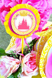 Princess Birthday Party- Yellow Princess Straw Flags - Princess Beauty