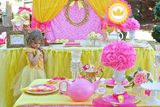 PRINCESS BIRTHDAY Party- Yellow Princess FLAG - Princess Party