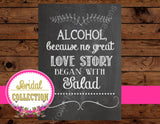 Bridal Shower- SIGN- CHALKBOARD WEDDING Sign -Bridal Shower Chalk Sign