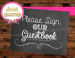Bridal Shower Chalk Sign - CHALKBOARD SIGN - Wedding SIGNS