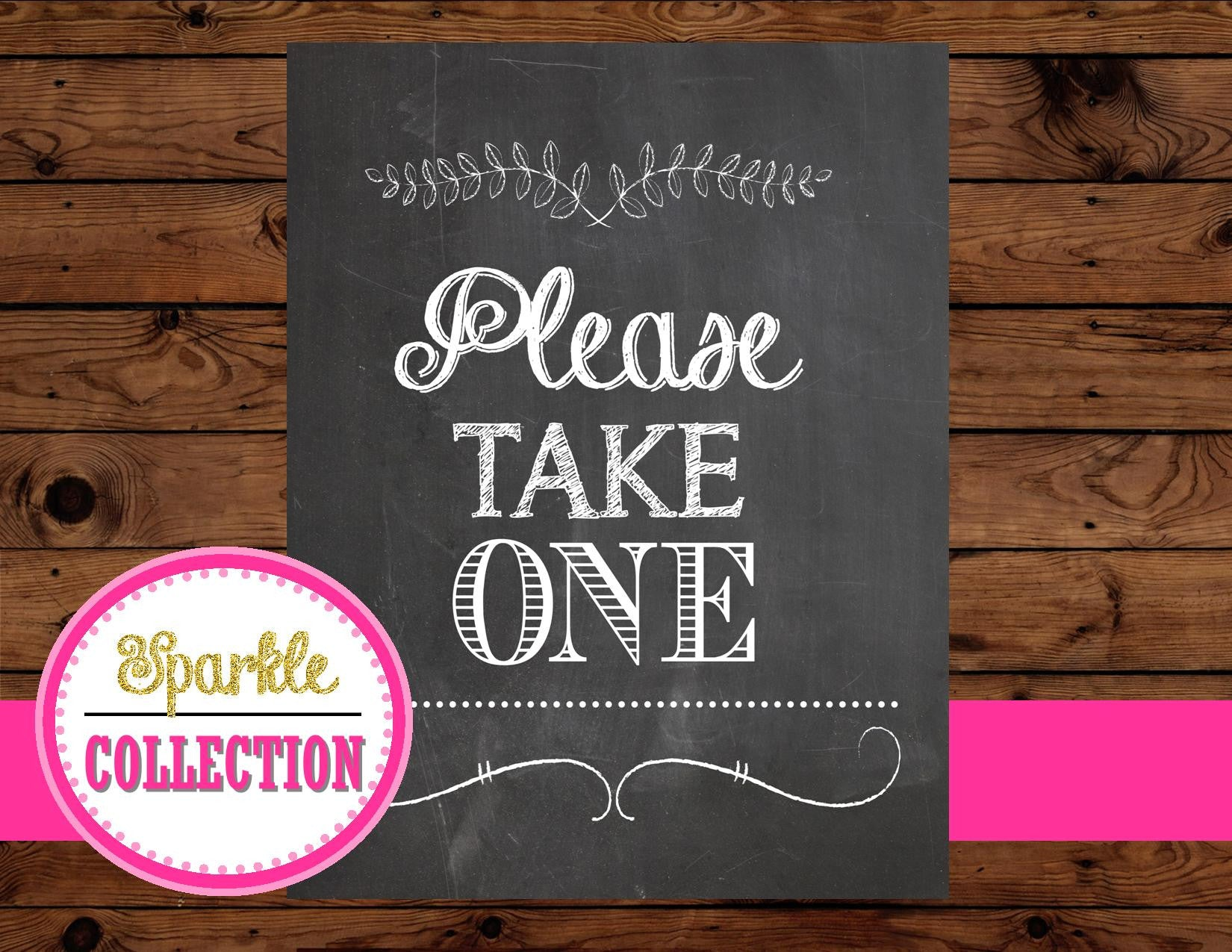 Chalk Board Bridal Shower SIGN - Wedding CHALKBOARD Sign- Please Take One