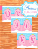 PRINCESS Party - Princess Banner - Princess BUNTING