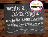 BRIDAL Shower- SIGN- DATE NIGHT - Chalkboard Sign- Chalk Sign- Wedding