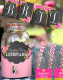 CHALKBOARD - FOOD Label- Wedding - Bridal Shower- Floral- Chalk Labels