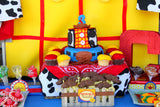 TOY Party - BACKDROP- COWBOY Birthday- Story Book