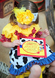 COWPRINT COWGIRL INVITATION- Horse Party- Horse Invitation- Cowgirl Party- Jessie