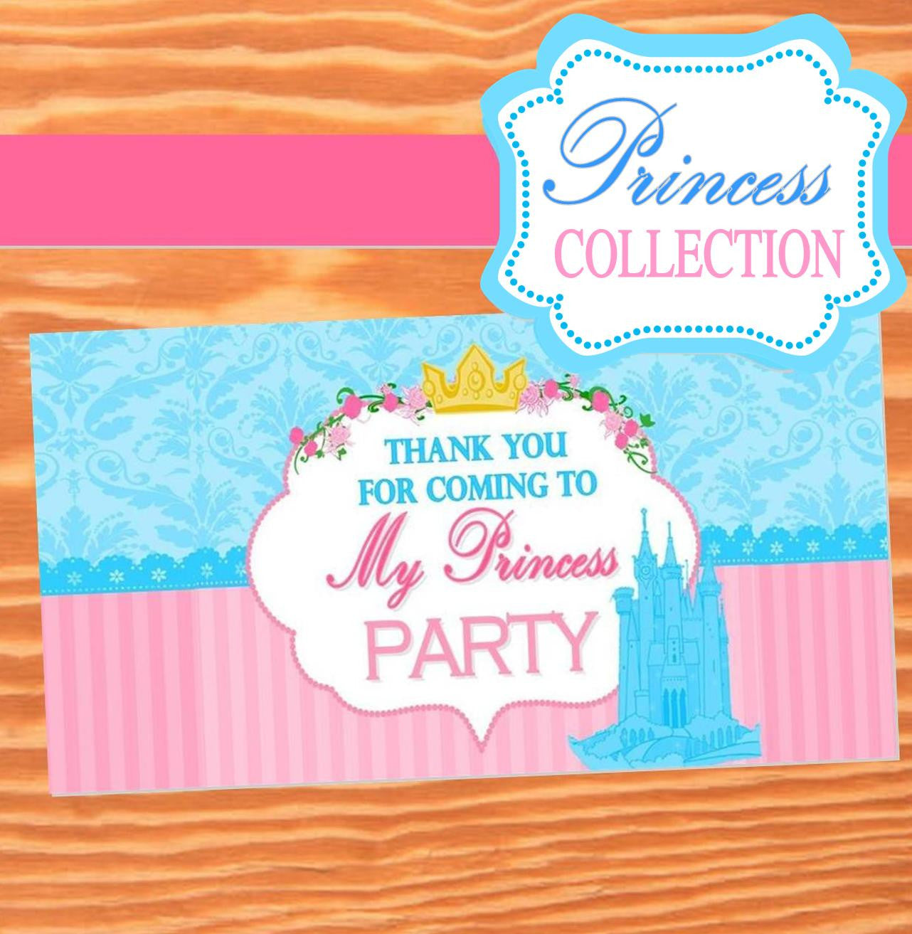 PRINCESS BIRTHDAY - Princess Party- BOX LABELS