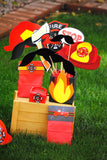 FIREMAN Birthday- Fireman BACKDROP- Fire Fighter Party- Fireman Party Decorations