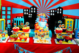 SUPERHERO Party- COMIC HERO Party- CITY SCAPE- Superhero Birthday- BACKDROP- Decorations