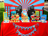 SUPERHERO Party- COMIC Hero Party- BURSTS- Comic Party- Superhero- Superhero Birthday