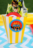 SUPERHERO Party- COMIC HERO Party- Superhero Birthday- POPCORN CONES