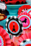 PARIS Party- AMERICAN in PARIS- Girl Party- Baking Party- Gracie- Doll Party- Cupcake- Baking- Poodle- PHOTO BOOTH PROPS