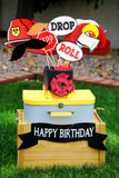 FIREMAN Birthday - FLAMES - Fire Fighter Party - Fire Departm;ent Decorations