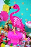 FLAMINGO Party- Hawaiian Luau- Luau- Flamingo Birthday Banner- Flamingo BANNER