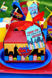 COMIC HERO Party- Superhero Birthday- Superhero THANK YOU TAGS- Superhero Party