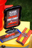FIRE FIGHTER NAPKIN RINGS - FIREMAN Party - Fire Truck Party- Fire Fighter Party