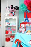 PARIS Party- AMERICAN in PARIS- Girl Party- Baking Party- Gracie- Doll Party-Cupcake- Baking- Poodle- STRAW FLAGS