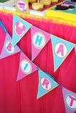 Bowtique Party- PINK MOUSE Birthday Party- Bowtique BANNERS- Mouse Party